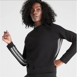 Athleta 24/7 Striped Sweatshirt